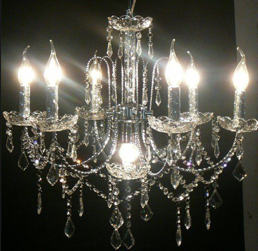discount 7 lights crystal chandelier modern glass chandelier in