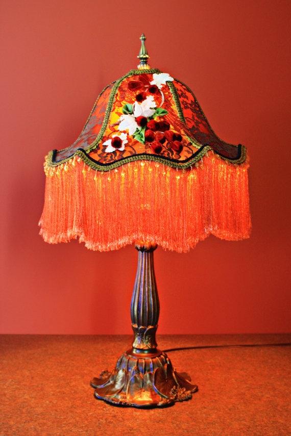 vintage lamp with fringe shade things i love pinterest. Black Bedroom Furniture Sets. Home Design Ideas
