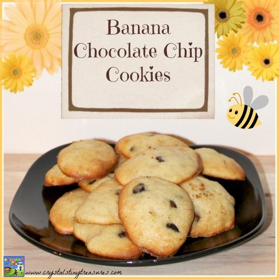 Banana Chocolate Chip Cookies #FillTheCookieJar So moist and light and ...