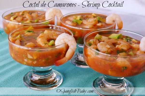 Coctel de Camarones | Shrimp Cocktail {Recipe} | SpanglishBaby™