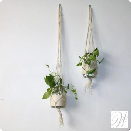 Diy wall hanging planters greenery ideas home pinterest Ideas for wall hanging planters
