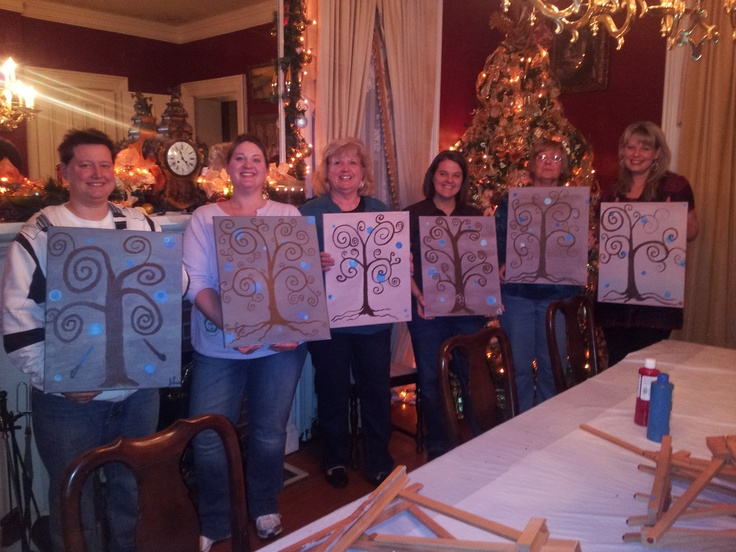 A private family painting party uncork your doors of for Private paint party