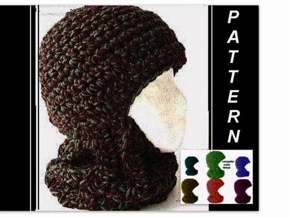 Crochet hat pattern crochet ski mask 26 balaclava ski hat 3 sizes