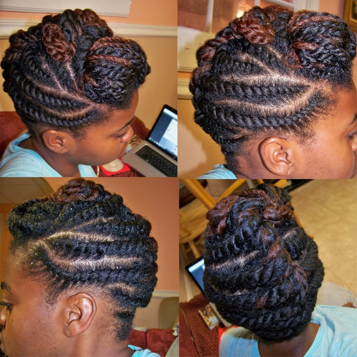 Flat Twist Updo Cute Natural Hairstyles