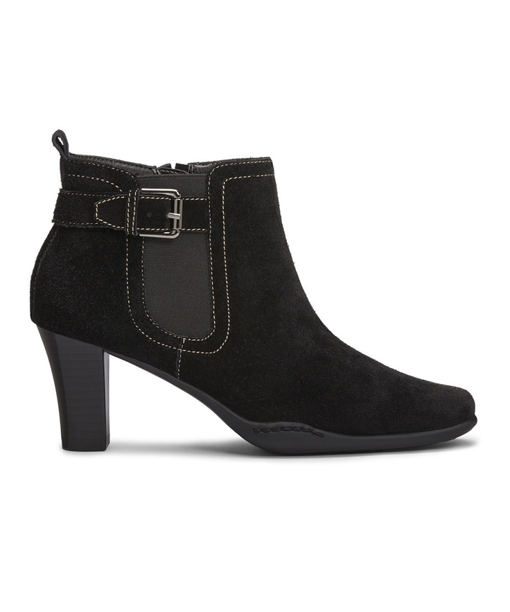 aerosoles black suede cinteresting boot
