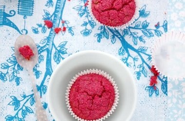Gluten and Dairy Free Beet and Poppy Seed Muffins — Punchfork