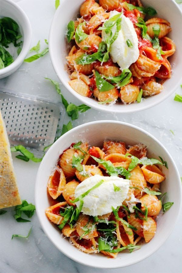 Agnese Italian Recipes: Baby Shells with Butter Roasted Tomato Sauce ...