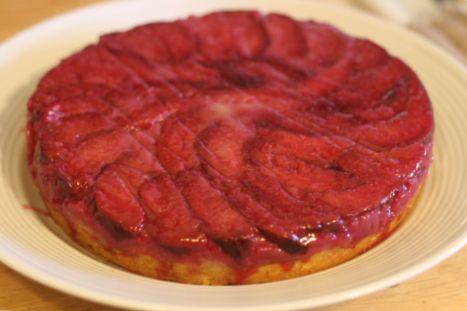 Plum Upside-Down Cake | Summer Food | Pinterest