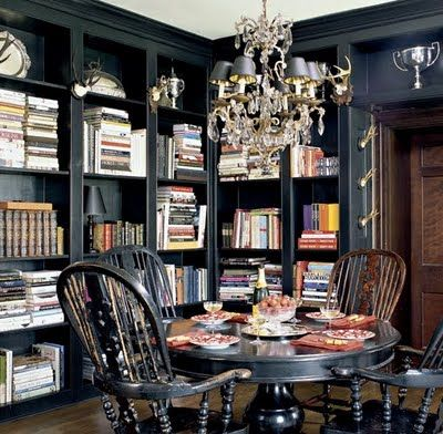 Library dining room dining rooms pinterest for Dining room library