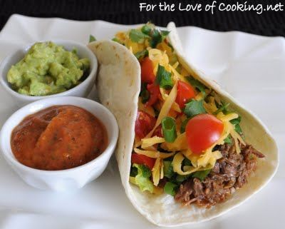For the Love of Cooking » Shredded Beef Soft Tacos.....I totally ...