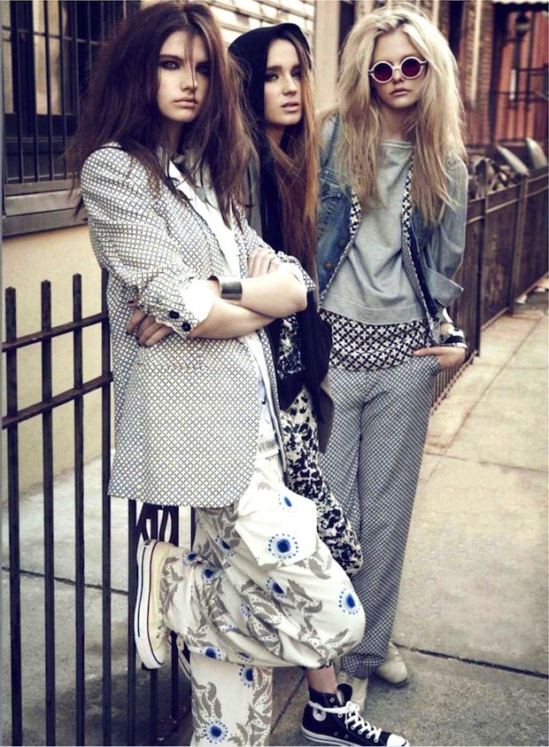 Meswear-inspired looks via Maire Claire US April 2012