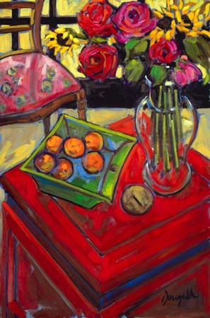 Artful interiors paintings of beautiful rooms chinese red chest
