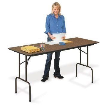 36 Counter Height Folding Table (30x72) in Walnut by Correll by ...