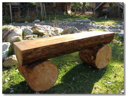 Log Benches Log Benches Garden Ideas Pinterest