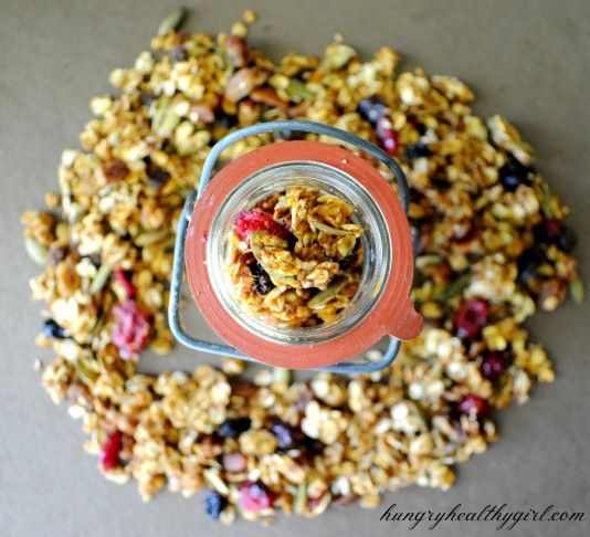 Pumpkin Pie Granola. Really easy and delicious! Smelled amazing a it ...