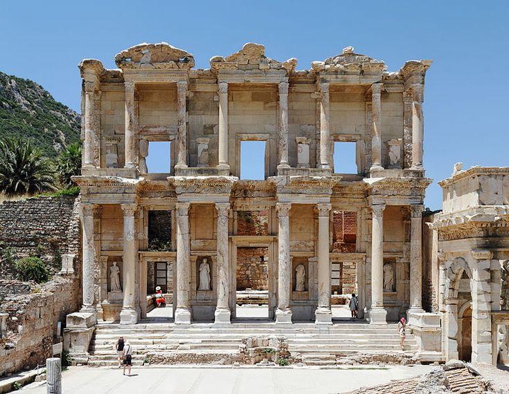 Celsus Library, Ephesus, Turkey  Libraries -- Cathedrals ...