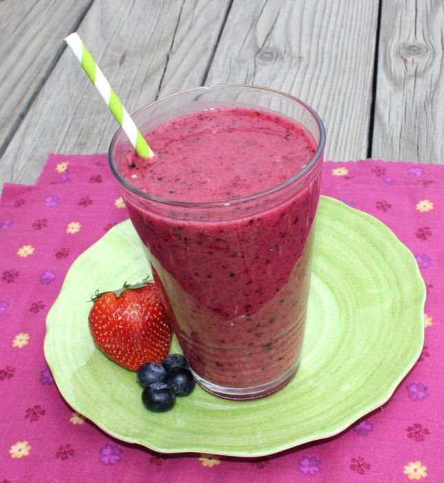 Berry Blast Smoothie 5 servings 3 C mixed frozen berries (raspberries ...