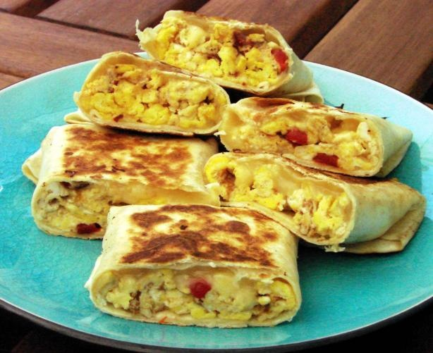 Scrambled Egg Wrap. We had a sandwich like this on vacation with ...
