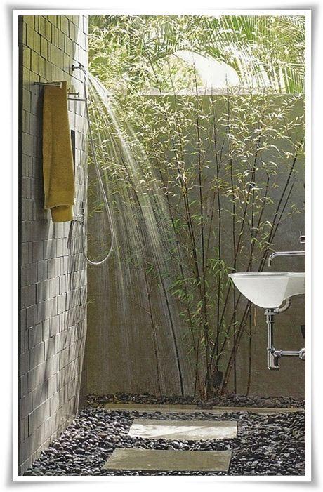 doccia allaperto  Outdoors  Pinterest