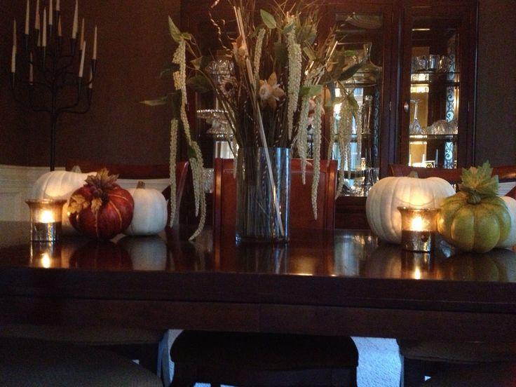 Dining room table fall decor fall decor pinterest - Fall dining room table decorating ideas ...