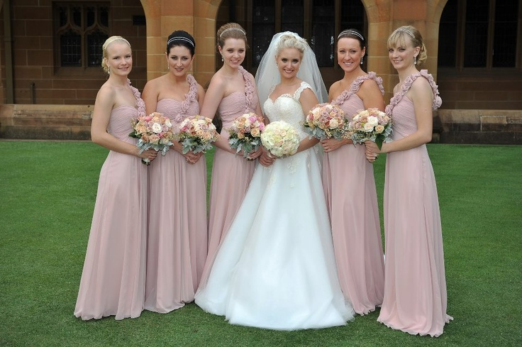Dusty Pink Wedding Party