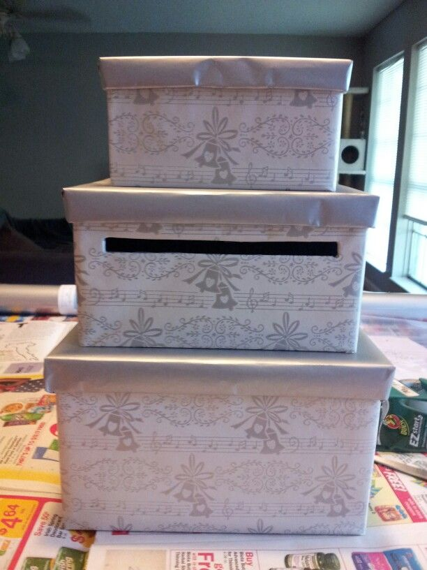 Wedding Gift Ideas Michaels : Wedding gift card box. DIY, Paper mache boxes from Michaels and ...