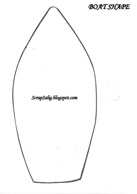 Boat shape   Templates   Pinterest