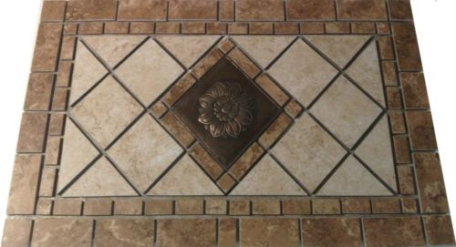 porcelain mosaic medallion tile backsplash deco marble des ebay