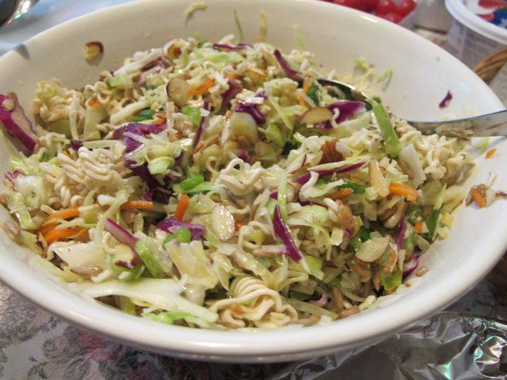 Ramen Noodle Salad. My mom used to make this! It's delicious and all ...