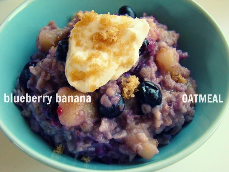 Blueberry banana oatmeal | Yum Breakfasts | Pinterest