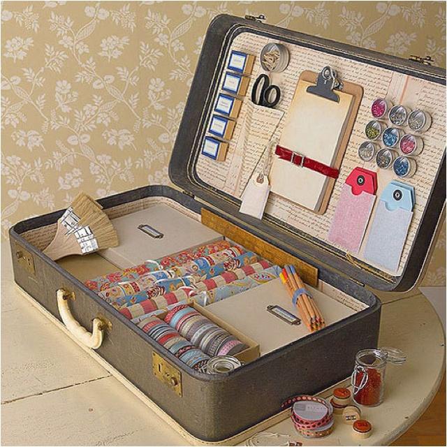 Vintage Suitcase Used For Storage