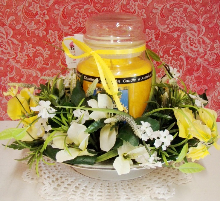 how to make a flower candle