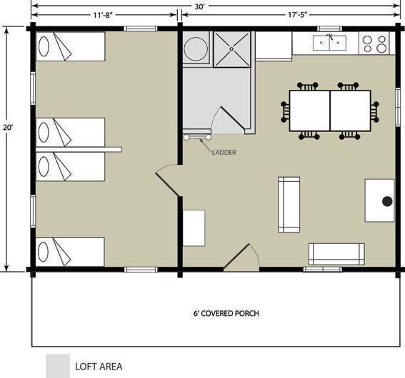 20 X 30 Cabin Floor Plans With Loft Memes