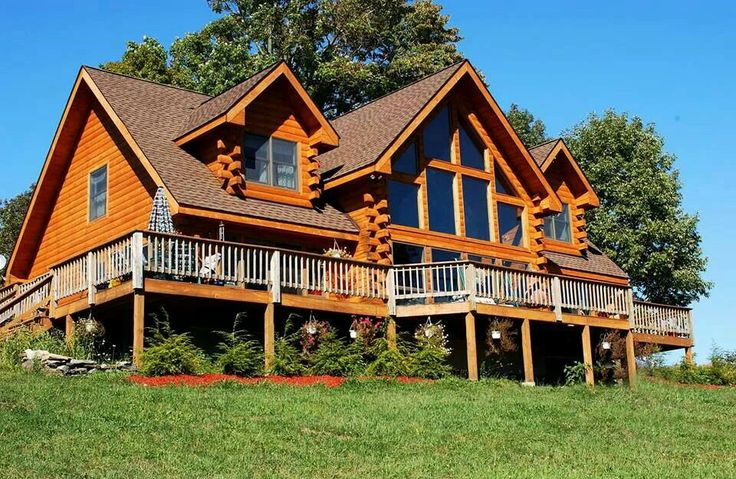 Wrap Around Porch Estemerwalt Homes Log Cabins Log