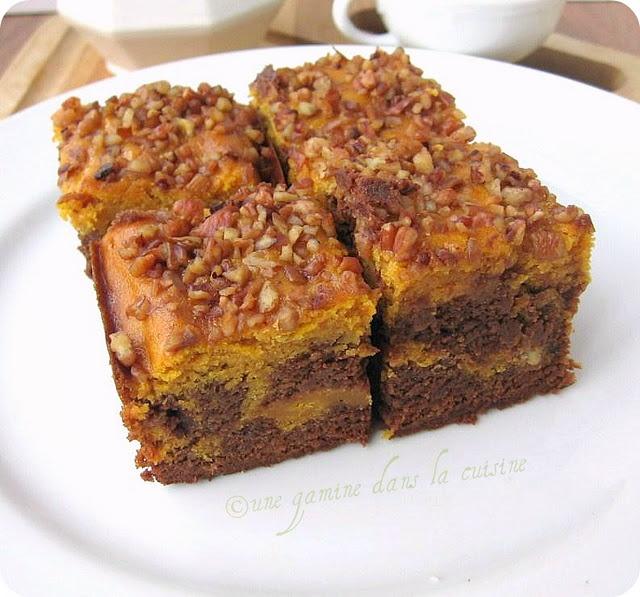 Pumpkin Swirl Brownies #pumpkin #brownies
