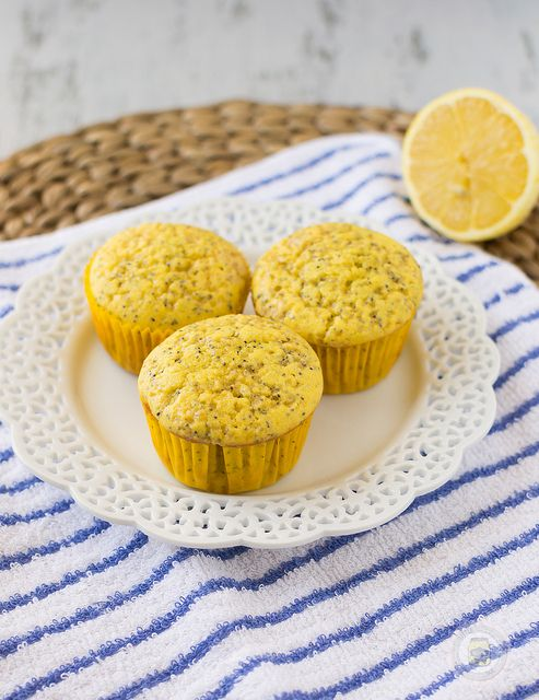 Lightly Lemon Poppy Seed Muffins Plated 2 by littlespicejar, via ...