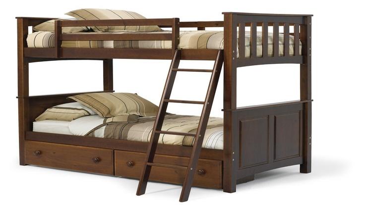 Pine RidgeFull Over Full Panel Bunk Bed Bunk Beds Bedroom Furniture 499