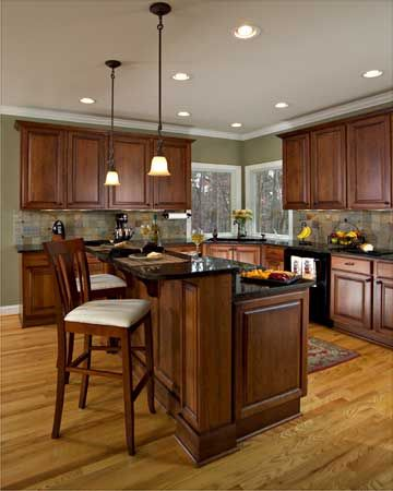 small kitchen design with corner sinks   Kitchen Remodel: Small and