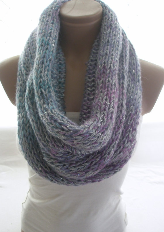 Hand Knitted Multicolor Hooded Cowl / Neck warmer by Arzus on Etsy, $ ...