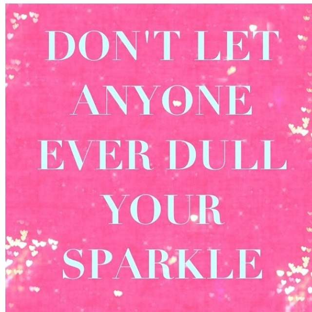 Sparkle all you want!