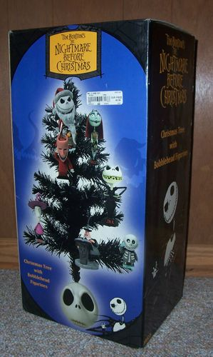 Nightmare Before Christmas Tree 7 Bobble Head Ornaments 2003 Jack Base ...
