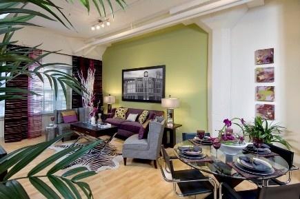 Green Purple Living Room Purple Green Decor Pinterest