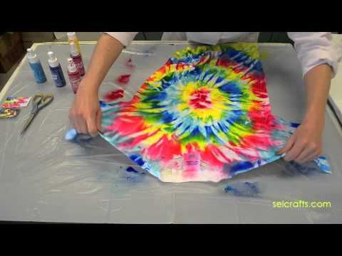 Sei tumble dye scrunch method tutorial tie dye party for Sei crafts tumble dye