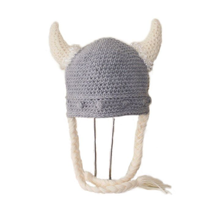 Crochet Viking Hat Pattern : Crochet Pattern PDF Viking Hat. Beanie and with Braids. (All Sizes In ...