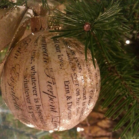 Unique and elegant personalized wedding invitation for Engagement christmas tree ornaments