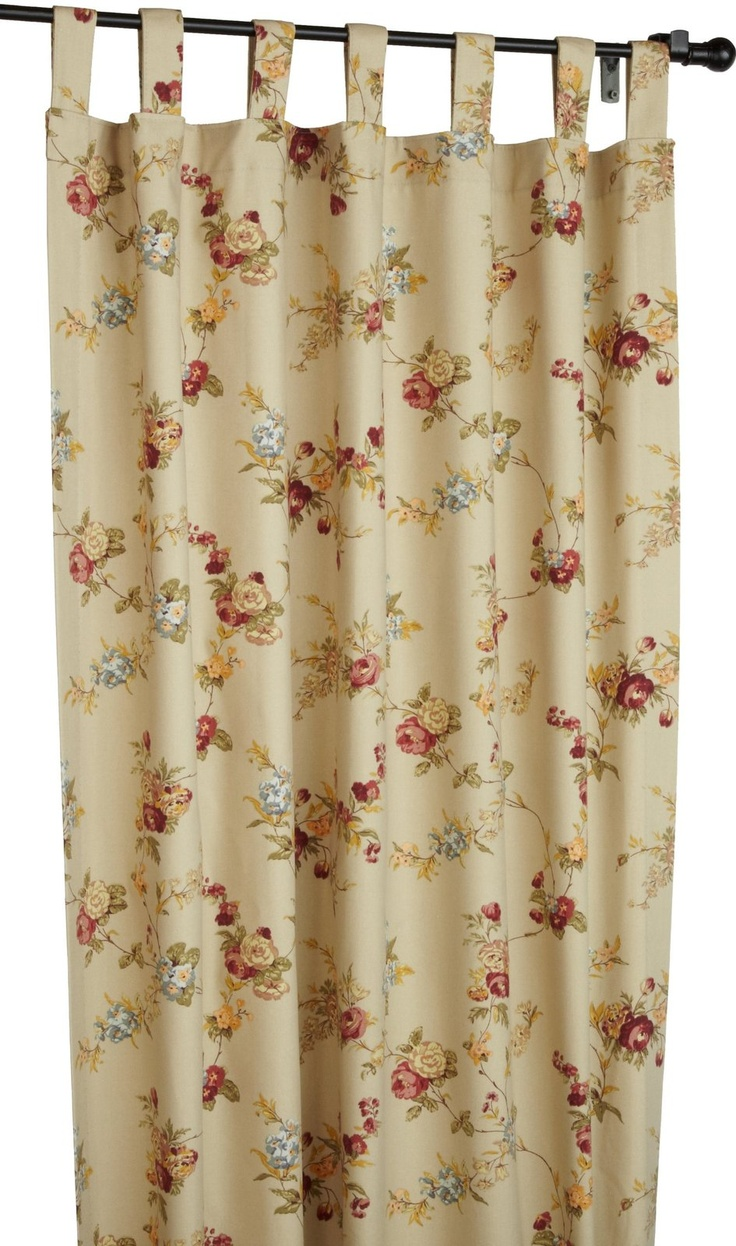 Fireside Floral Tab Top Thermal Insulated Drapes