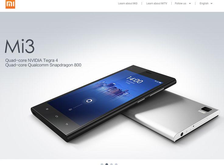 http://www.xiaomi.com/en   China own smartphone, Xiaomi.