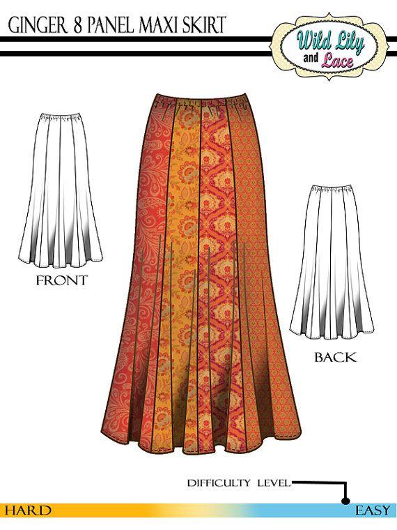 maxi skirt pattern 303 maxi and skirt pattern