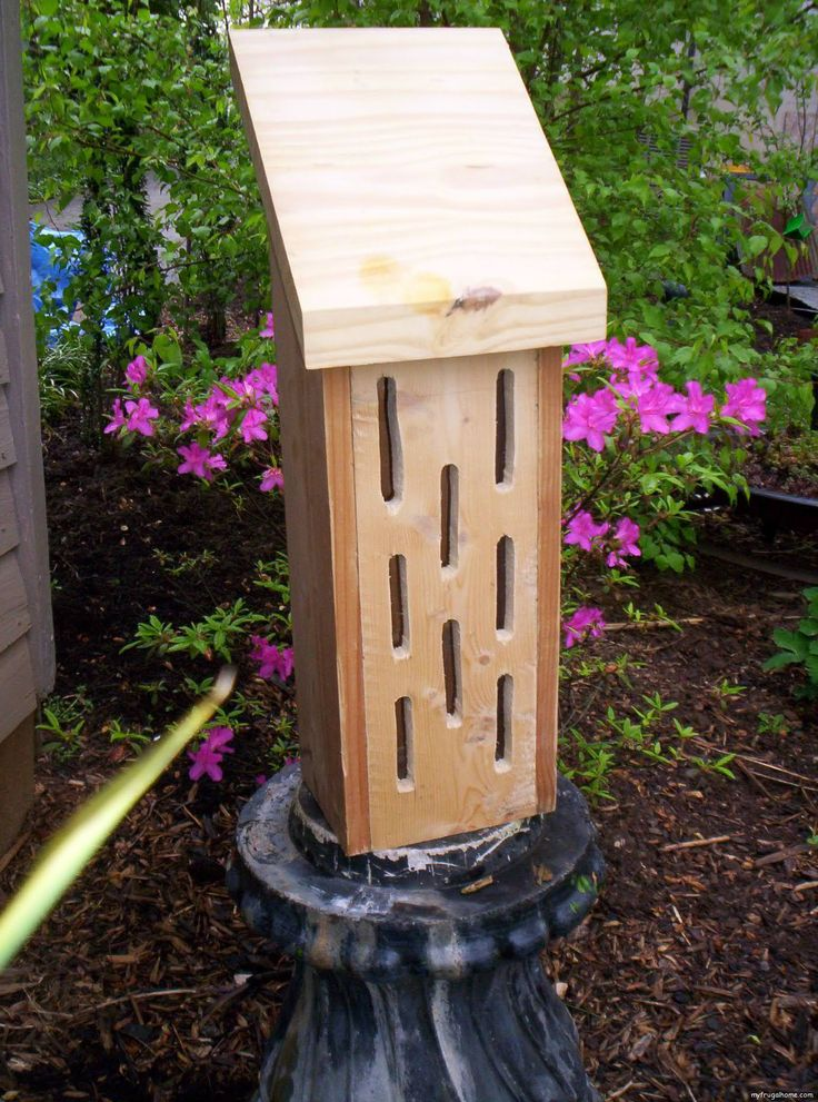 How To Build A Butterfly House Gardening Pinterest