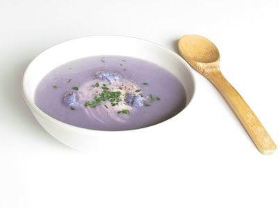 // cream of purple cauliflower soup  • John Pawson and Annie Bell